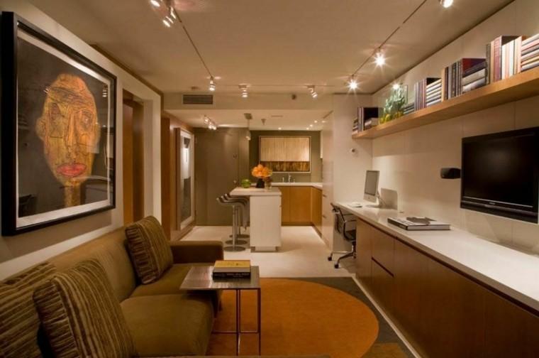 decoracion apartamento luces cuadro muebles