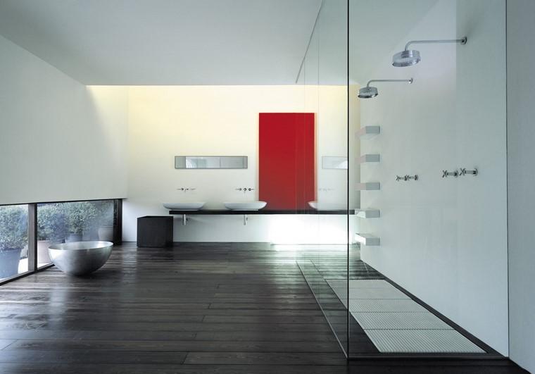 decoración baño amplio moderno bonito ideas