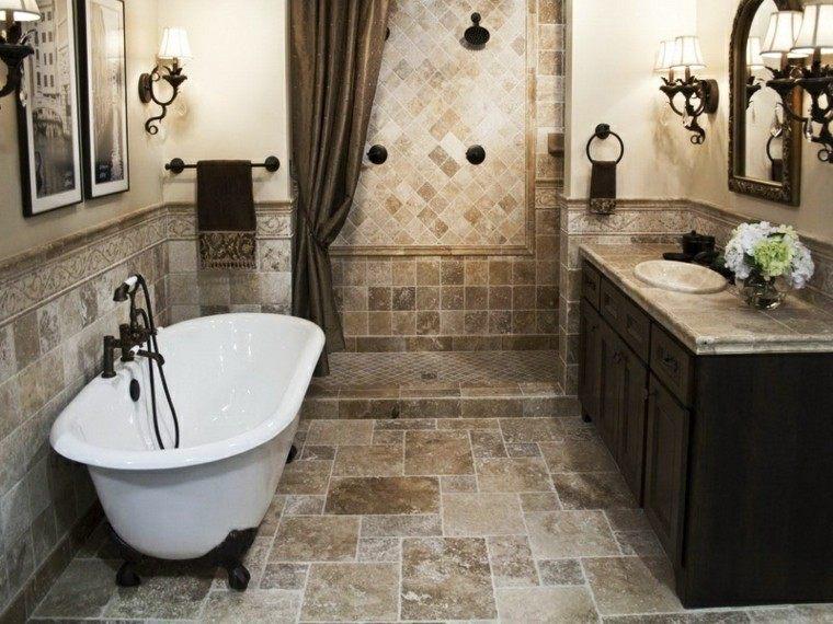 decoracion baños pequeños bañera muebles clasico