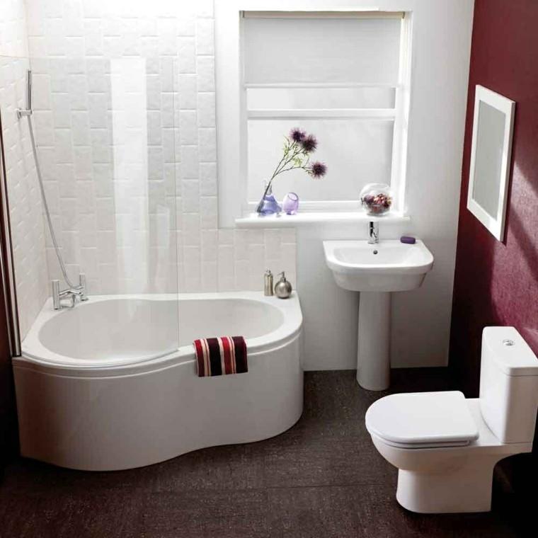 decoracion baños pequeños blanco pared ordenado
