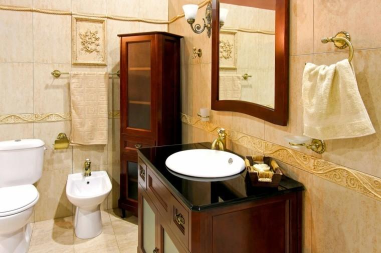 decoracion baños pequeños lujo clasico calido