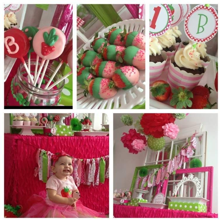 decoracion cumpleanos bebe ideas rosa pasteles