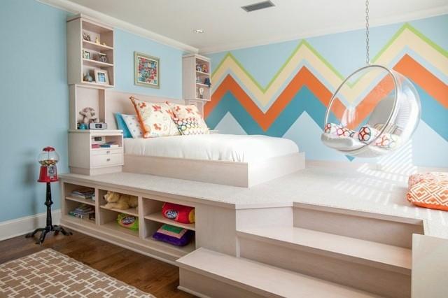 decoración de dormitorios infantiles silla juguetes