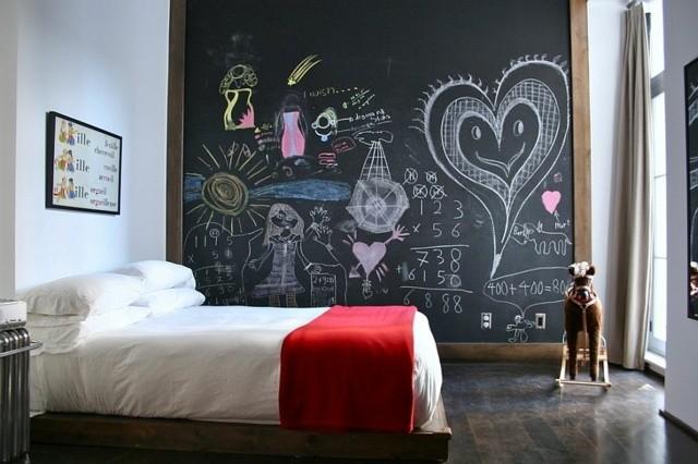 decoración de dormitorios infantiles creativo pizarra