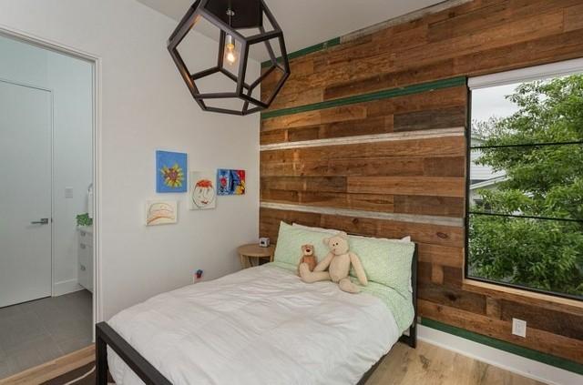 decoración de dormitorios infantiles madera lampara