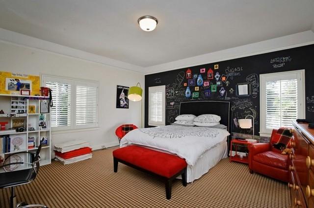 decoración de dormitorios infantiles pizarra muebles