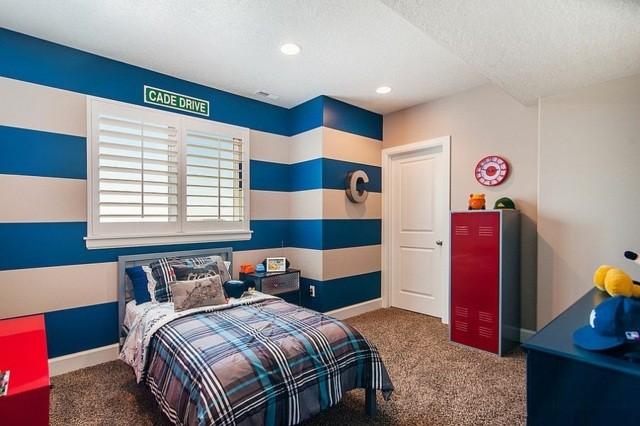 decoración de dormitorios lineas pared habitacion