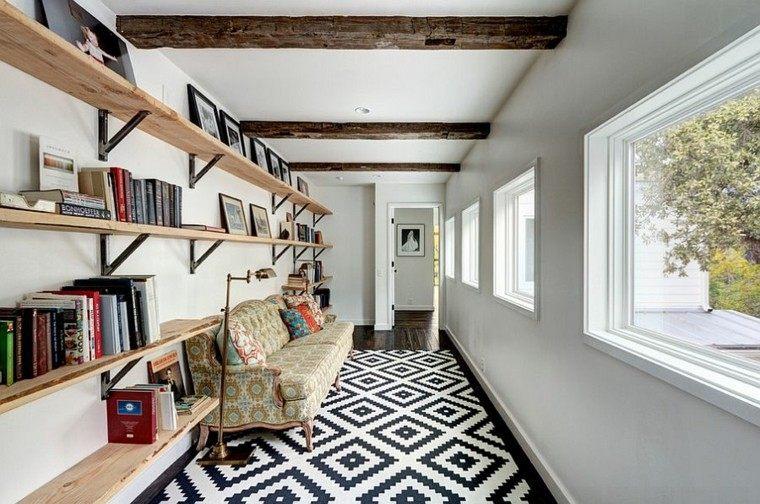 decoración de interiores para lecturas estante ventana libros