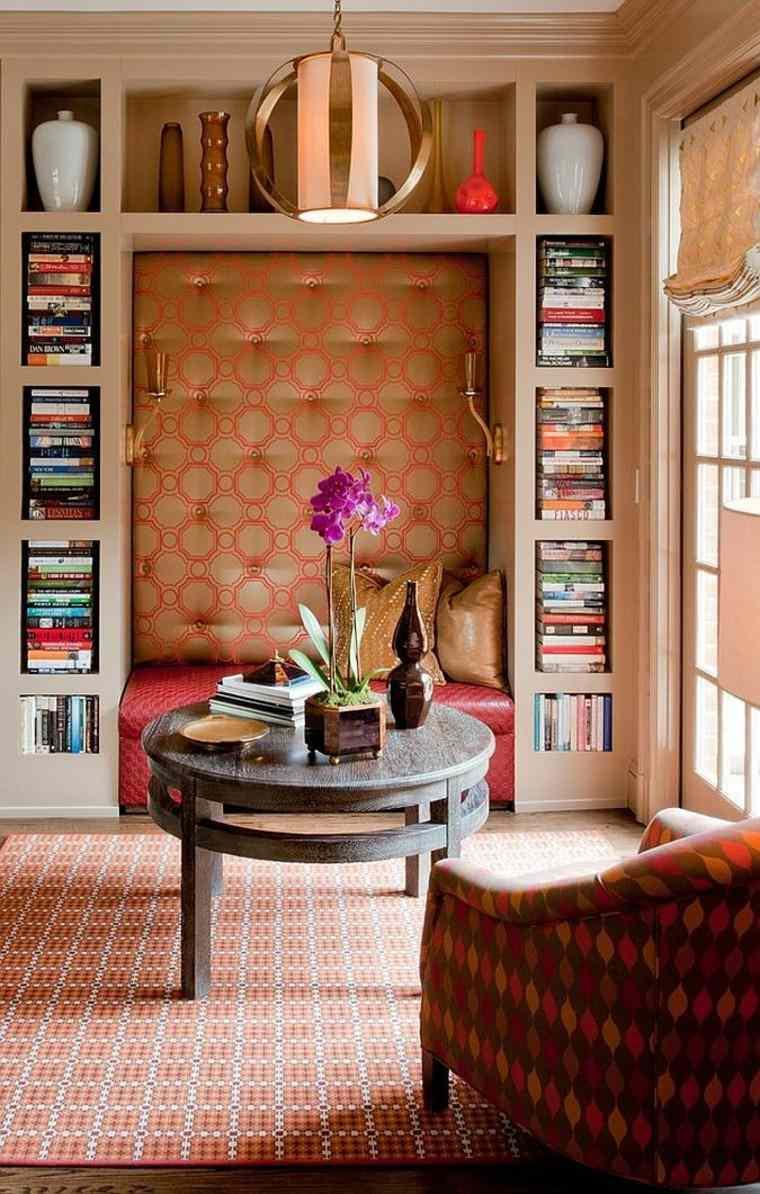 decoración de interiores para lecturas jarron flores mesa