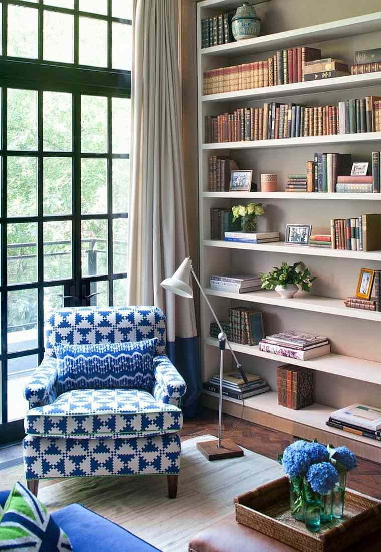 decoración de interiores para lecturas lampara cortinas sofa