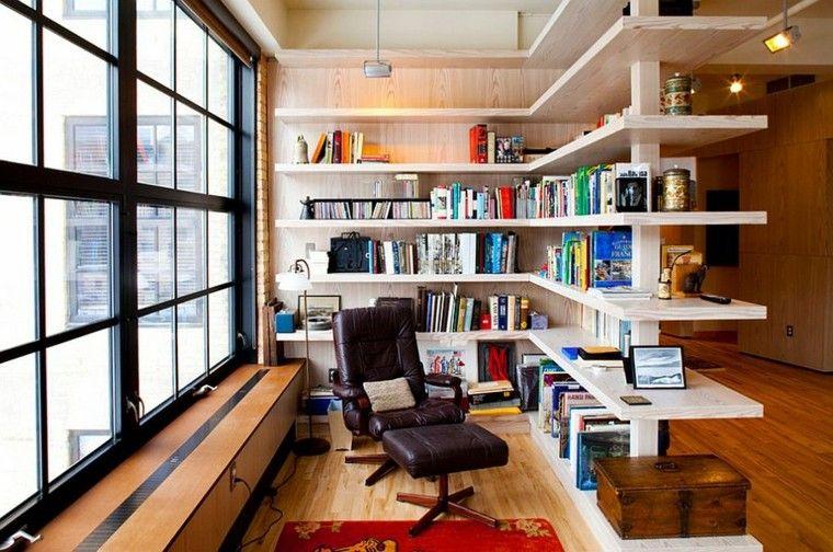 decoración de interiores para lecturas luces estante