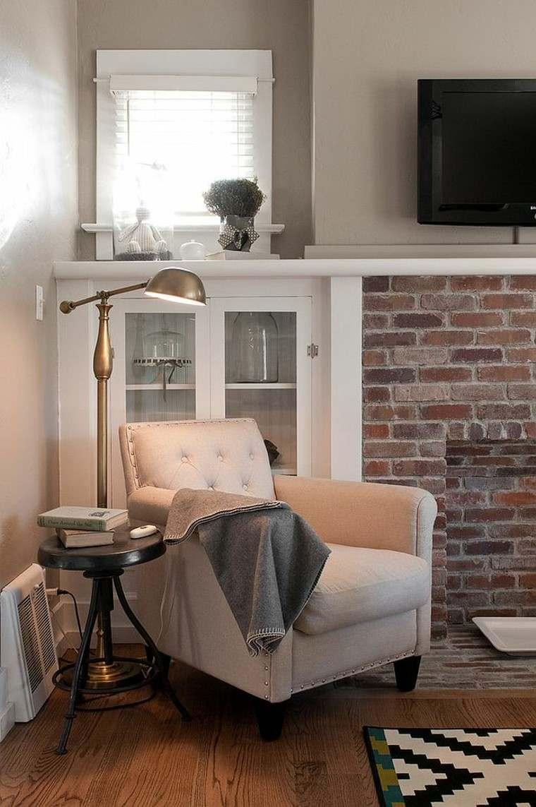 decoración de interiores para lecturas sofa manta lampara
