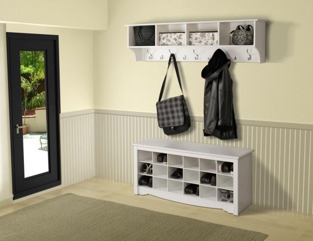 Muebles de entrada ideas que invitan a remodelar - Percha para zapatos ...