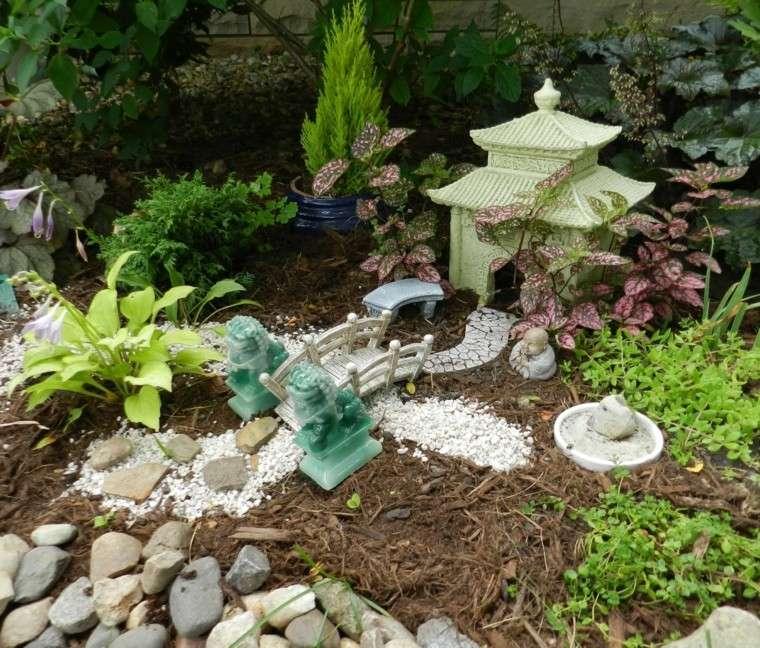 jardines zen con decoracin asimtrica