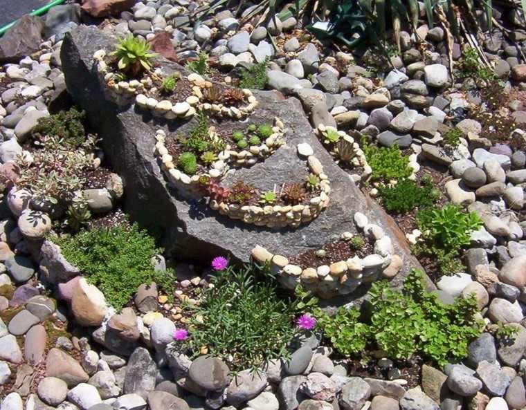 decoracion jardines rocas guijarros