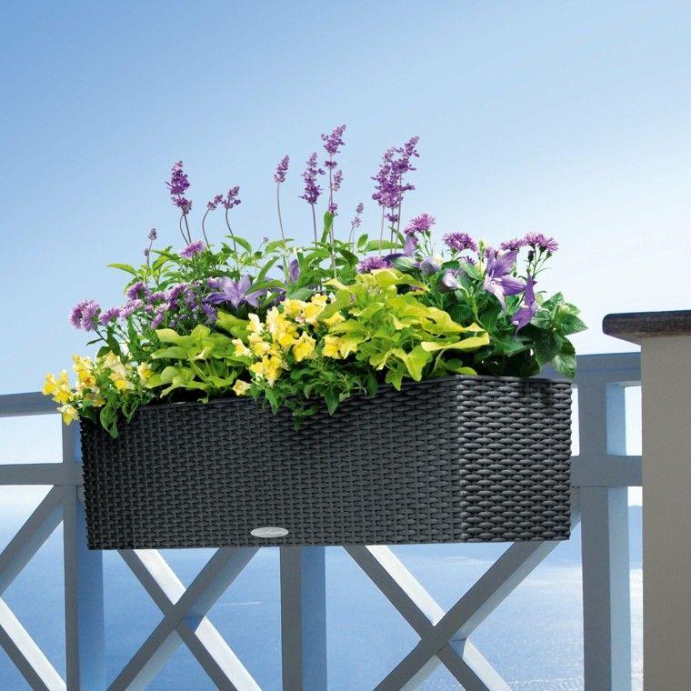 decoracion macetas flores colgante balcon