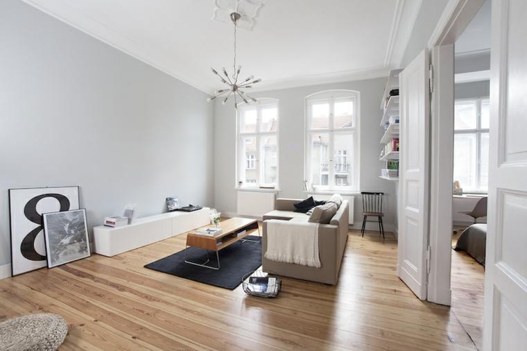 sala de estar para apartamento de soltero todo un lujo