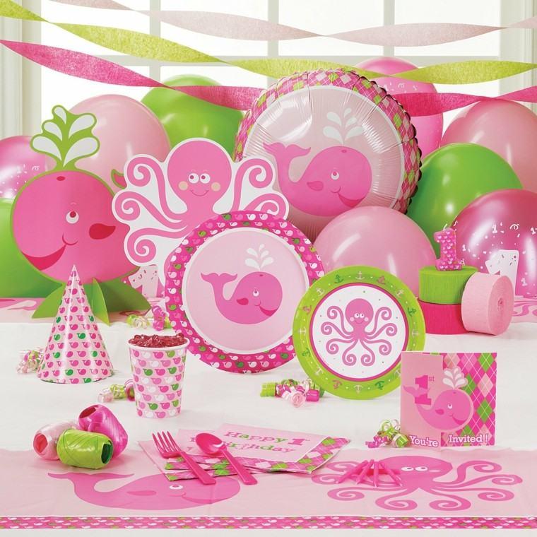 decoracion rosa tema marino chica cumplenos nina