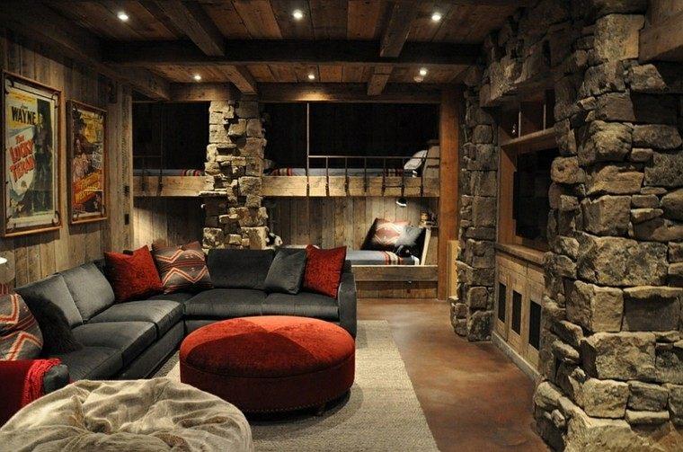 decoracion rustica cuarto juvenil sofa