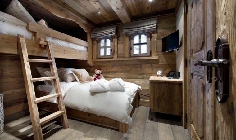 Decoracion rustica para los dormitorios juveniles