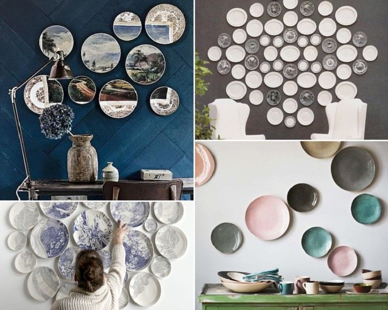 decorativo platos mural diy ideas