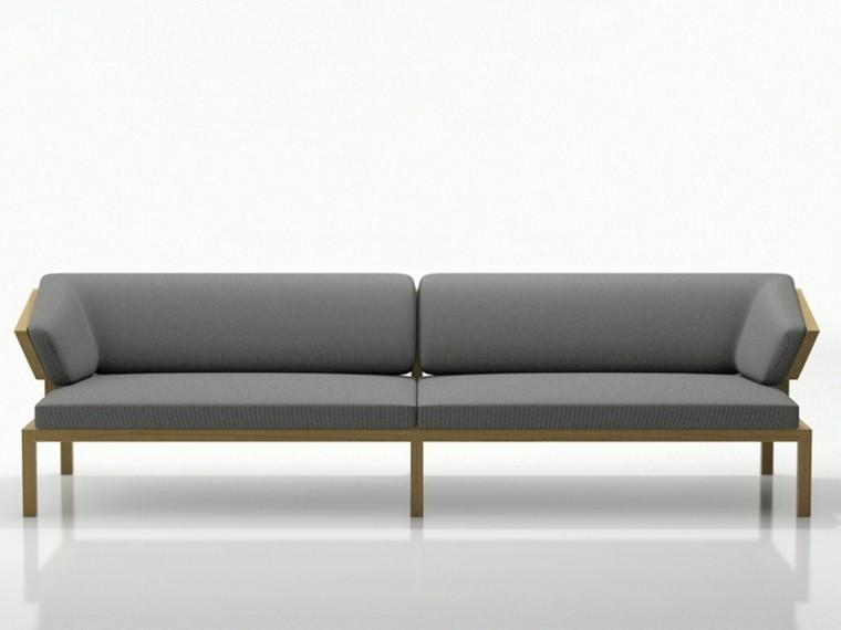 sofas  diseño color gris respaldo