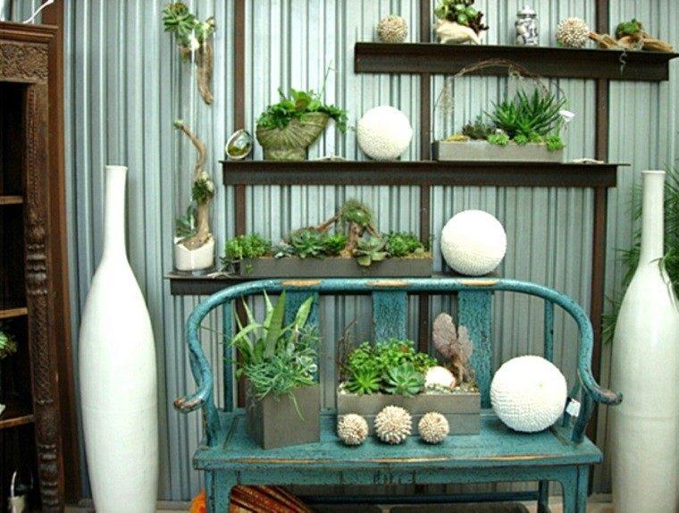 detalles decorativos terraza plantas