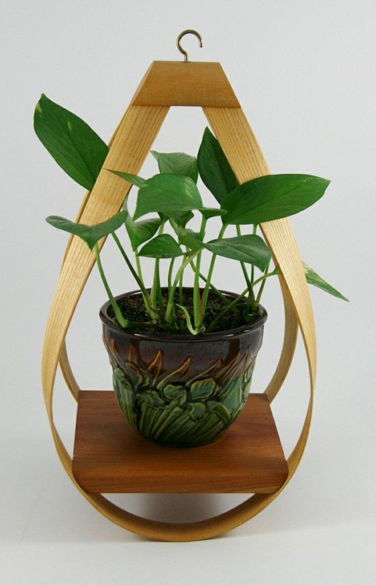 diseño colgante creativo madera colgante