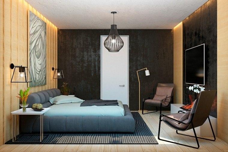 diseño con madera salon plantas jarron lampara