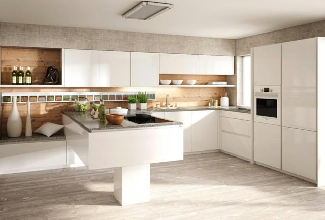 diseño de cocina minimalista blanca ideas moderna