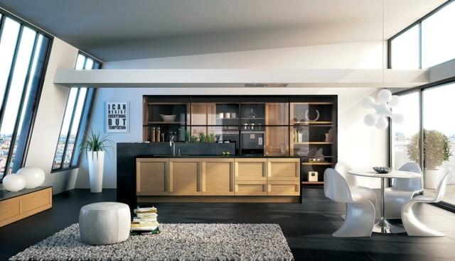 diseño de cocina moderna tendencia abierta salon