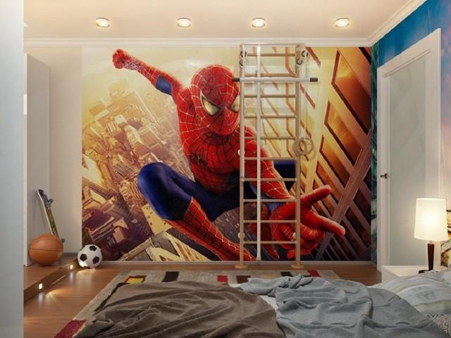 diseño decoración heroe niños spiderman