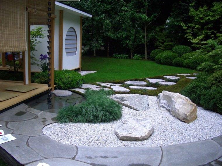 diseño jardines con grava rocas