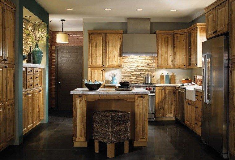 diseño madera cocina tradicional rustica