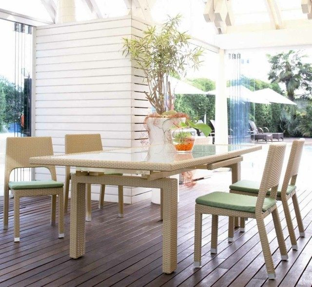 diseño minimalista terrazas modernas muebles comer ideas