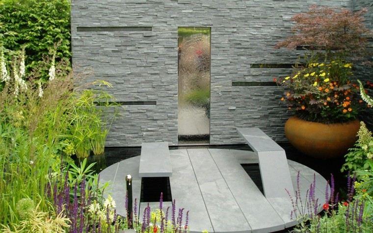 diseño moderno jardines pequeños plazoleta