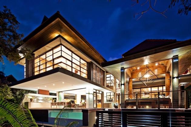 diseños orientales de casas modernas