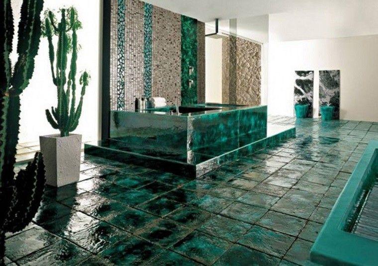 Baños Con Azulejos Verdes:Ducha en jardin – un placer más al alcance de tu mano