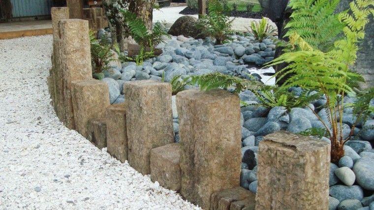 distintas rocas diseño jardin grava