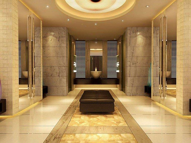dorado baño diseño lamparas mueble