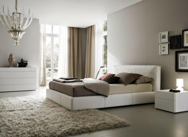 dormitorio colores beige alfombra pelos ideas diseo