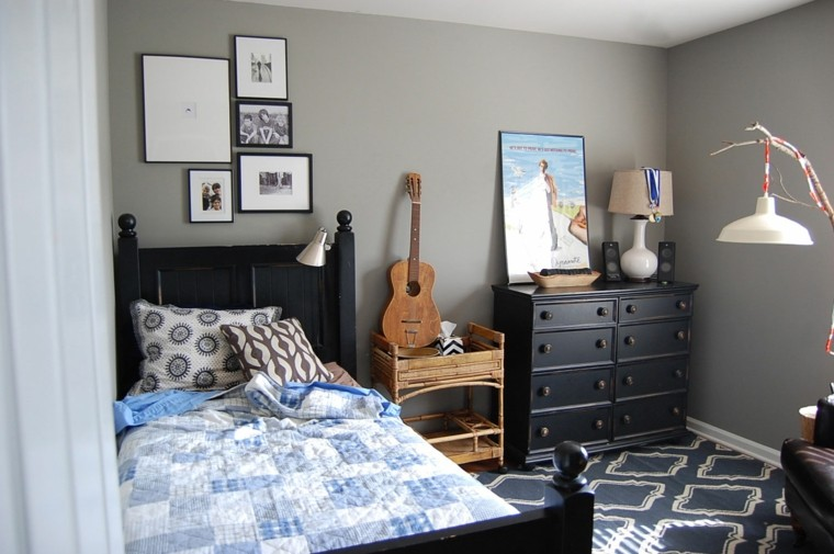 Bedroom Color Schemes For Teenage Guys : Habitaciones modernas para solteras y solteros