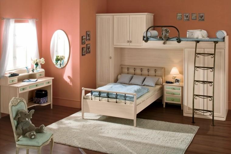 dormitorios infantiles para niñas elefante cortinas espejo silla
