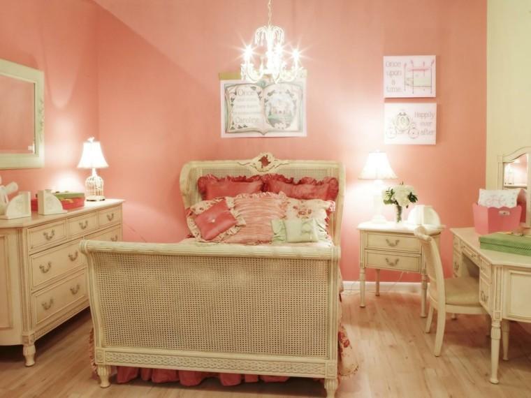 dormitorios infantiles para niñas lampara sillas madera luces