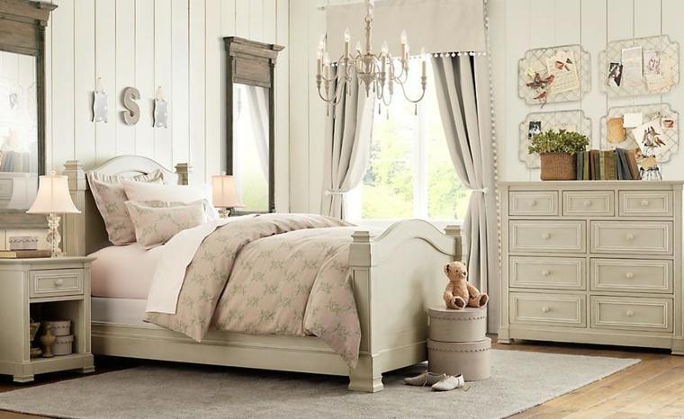 dormitorios infantiles para niñas plantas cuadros alfombra