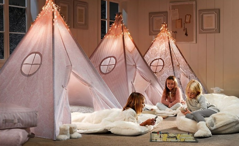 dormitorios infantiles para niñas rosa juegos luminarias