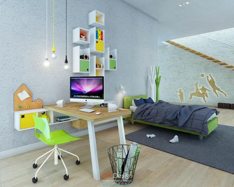 dormitorios juveniles varios colores silla