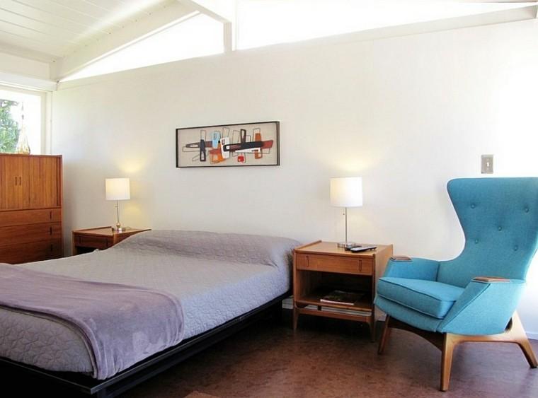dormitorios modernos cama estilo mediados siglo ideas