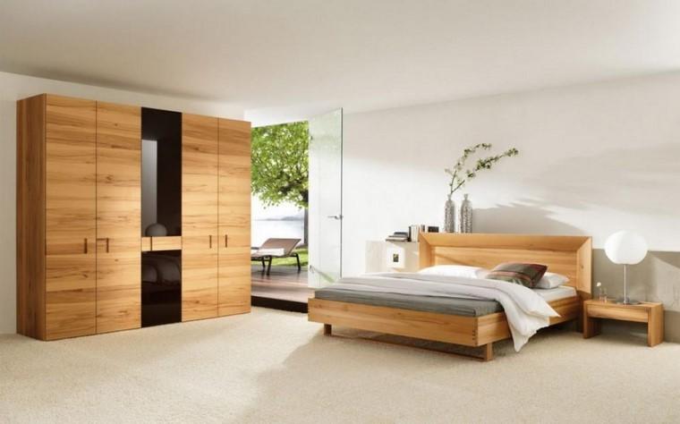 dormitorios modernos con maderas muebles natural plantas