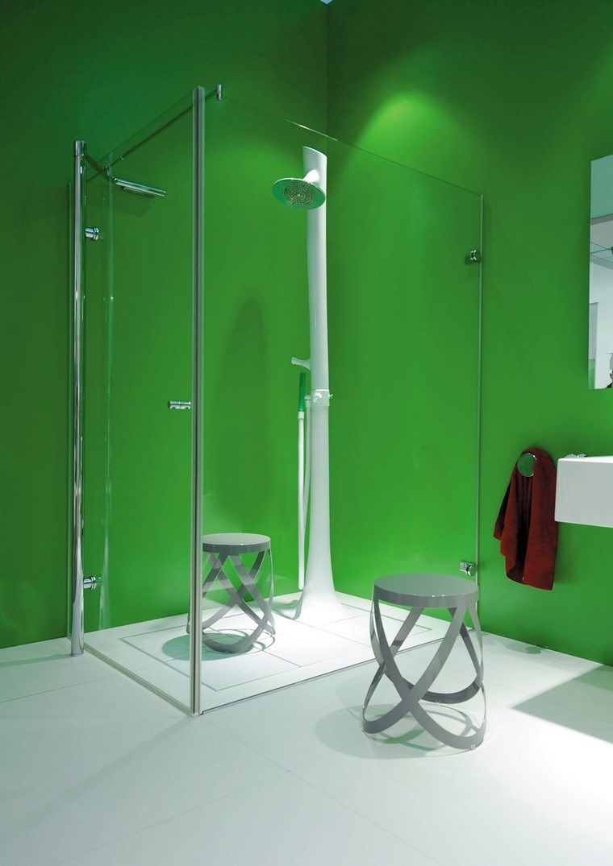 decoración baños ducha baño verde naturalidad ideas original